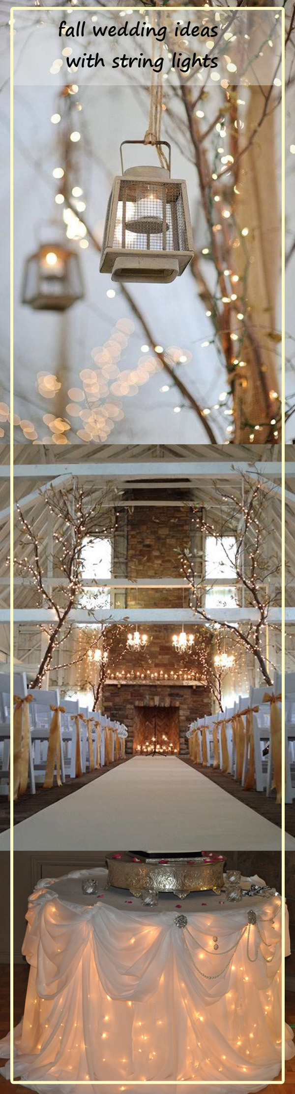 fall country wedding ideas with natural lights