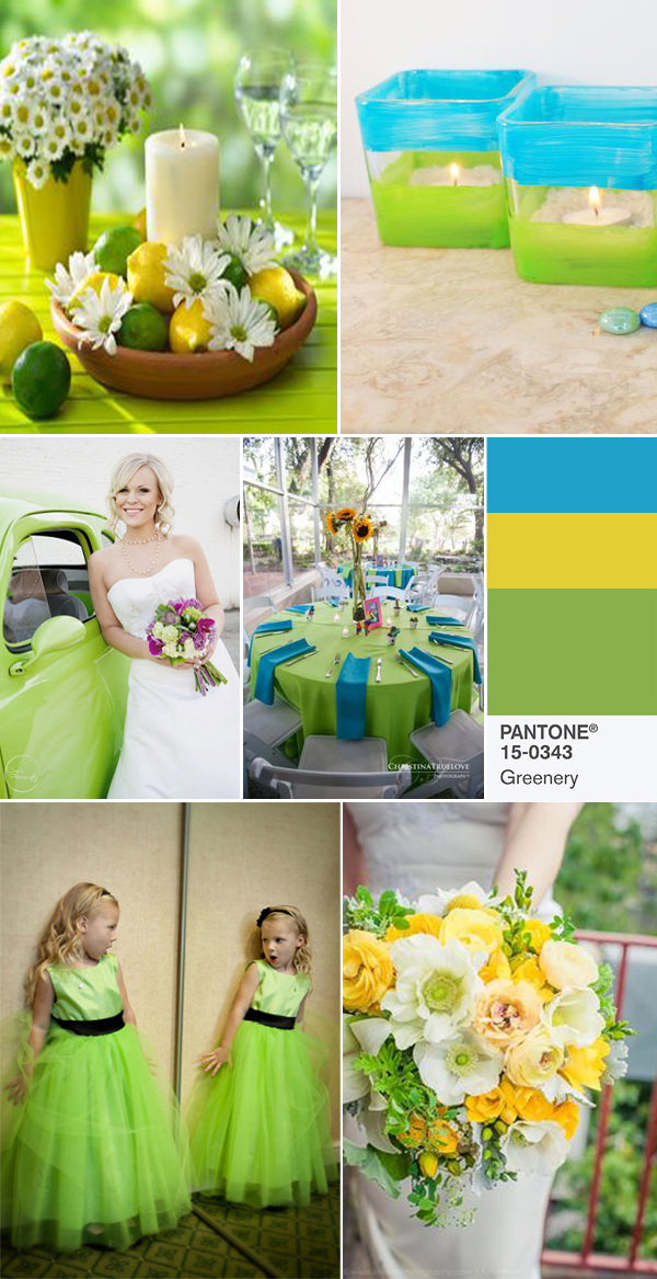 greenery and yellow wedding color ideas for 2017