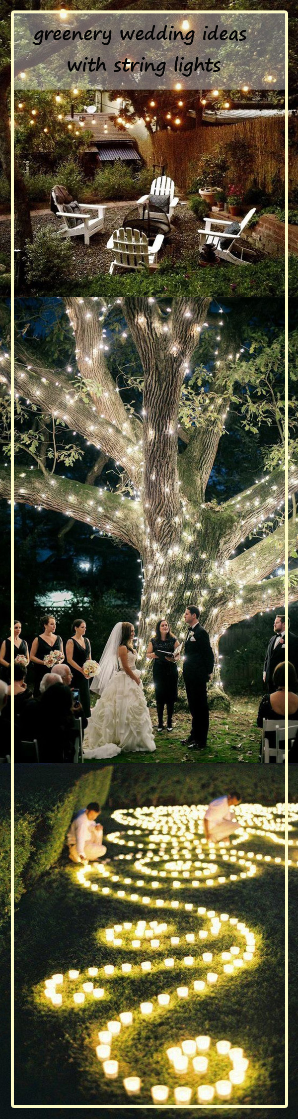 greenery wedding ideas with lights for 2017 trends