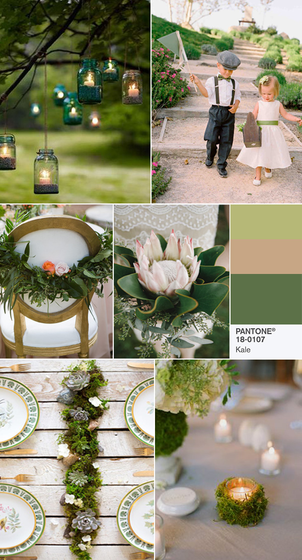 pantone kale wedding color inspiration for 2017 spring