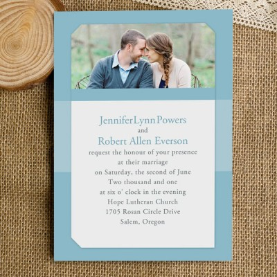 shades of blue photo spring wedding invitations