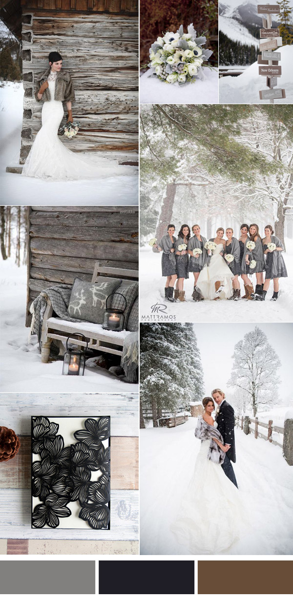 Top 10 Winter Wedding Color Combos 2016