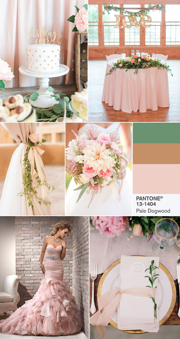 top 10 pantone fashion  wedding colors in pale dogwood