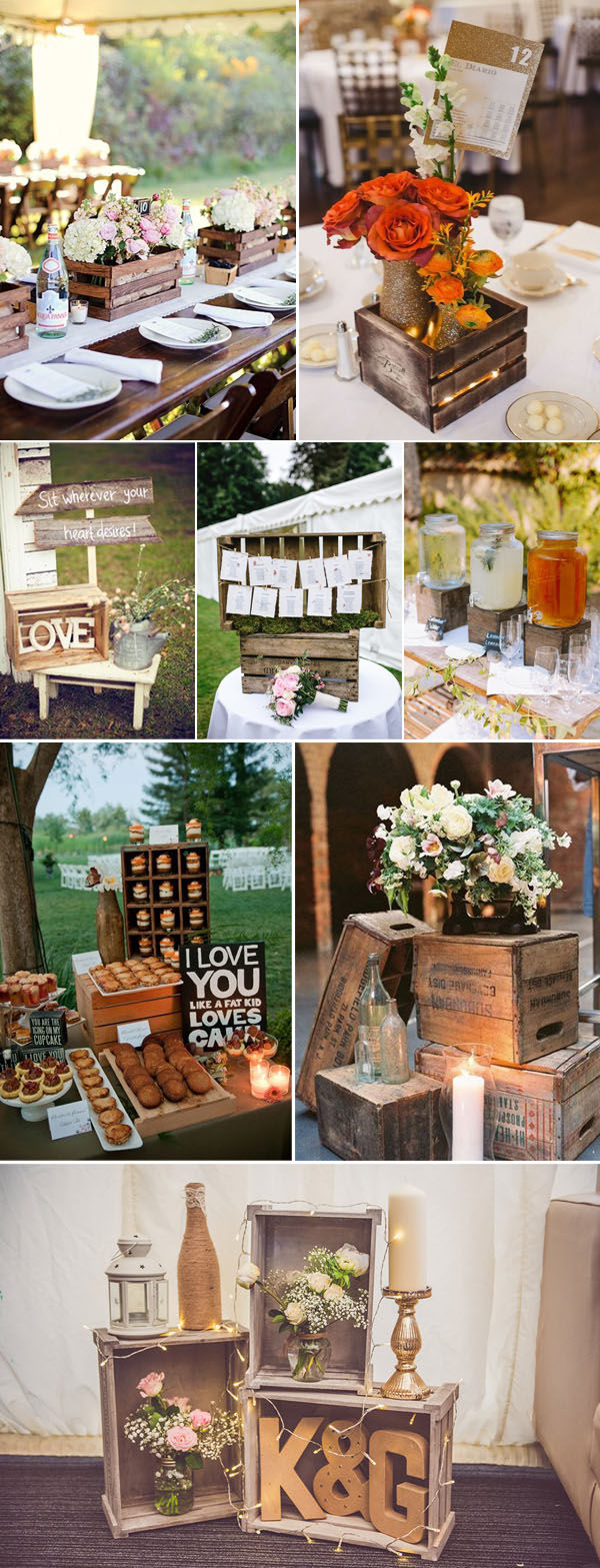 geniue wooden crates wedding ideas