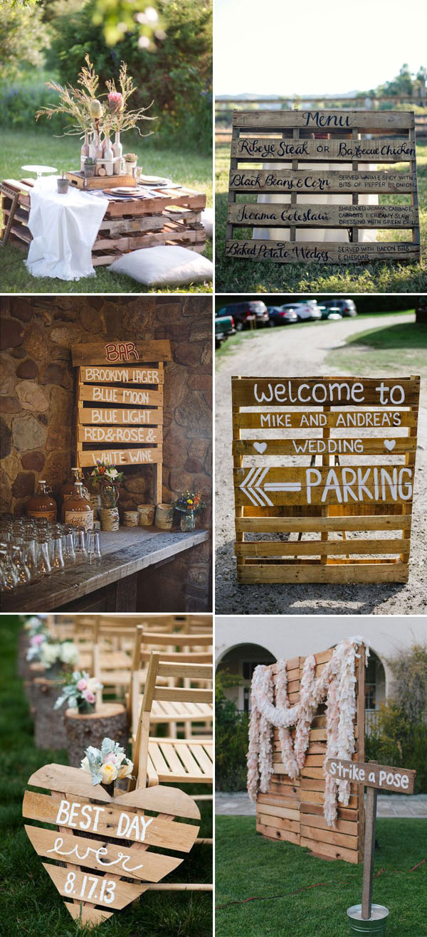 inspirational wooden pallete wedding ideas
