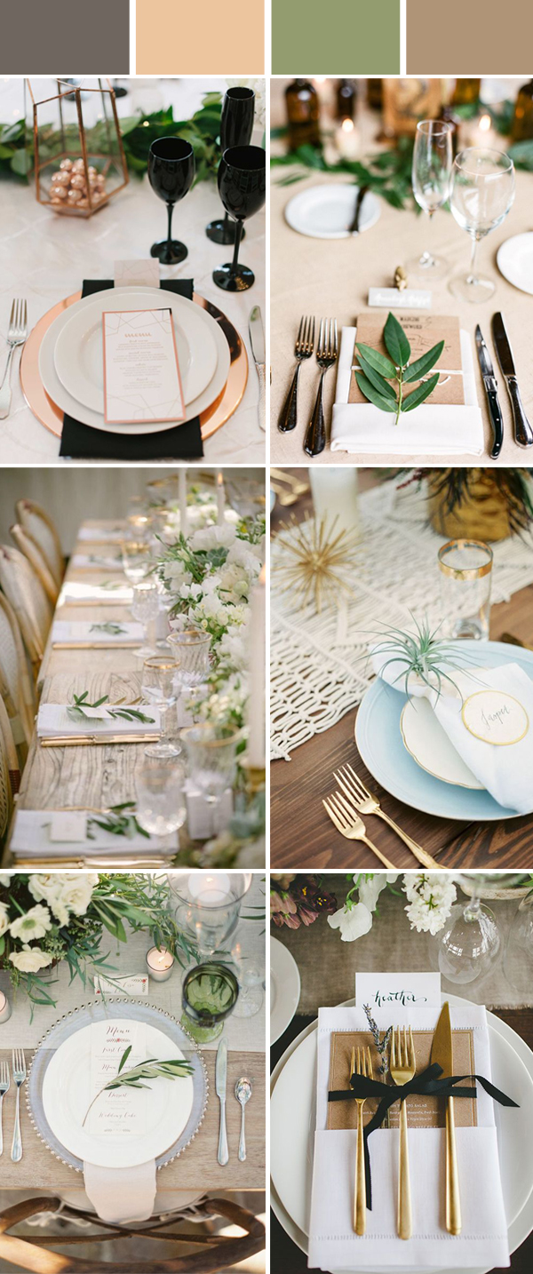 Wedding Table Setting Decoration Ideas for Reception