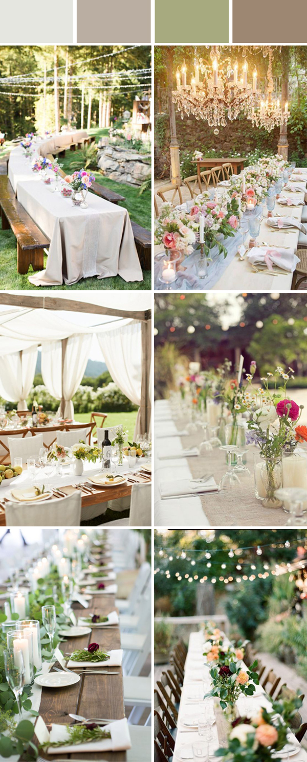 outdoor wedding ideas for table setting decorations