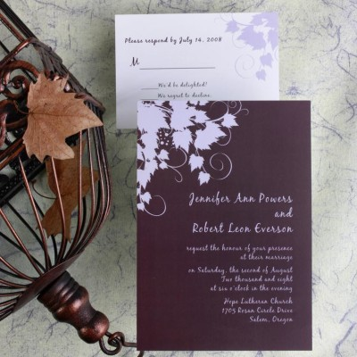 personalized beautiful leaf wedding invitations online