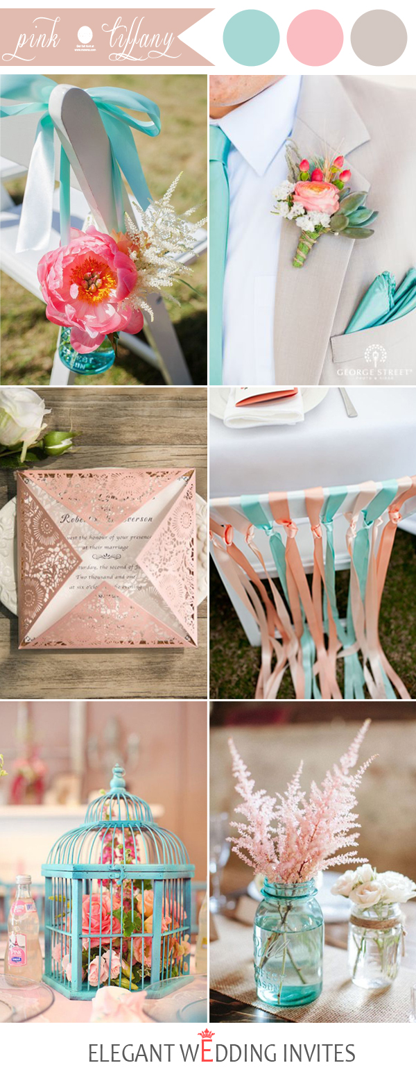 pink and tiffany wedding color inspiration