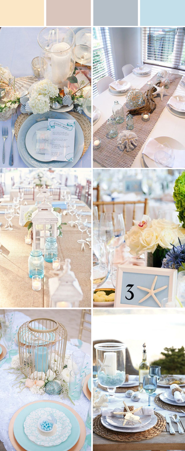 reception table setting ideas for beach wedding