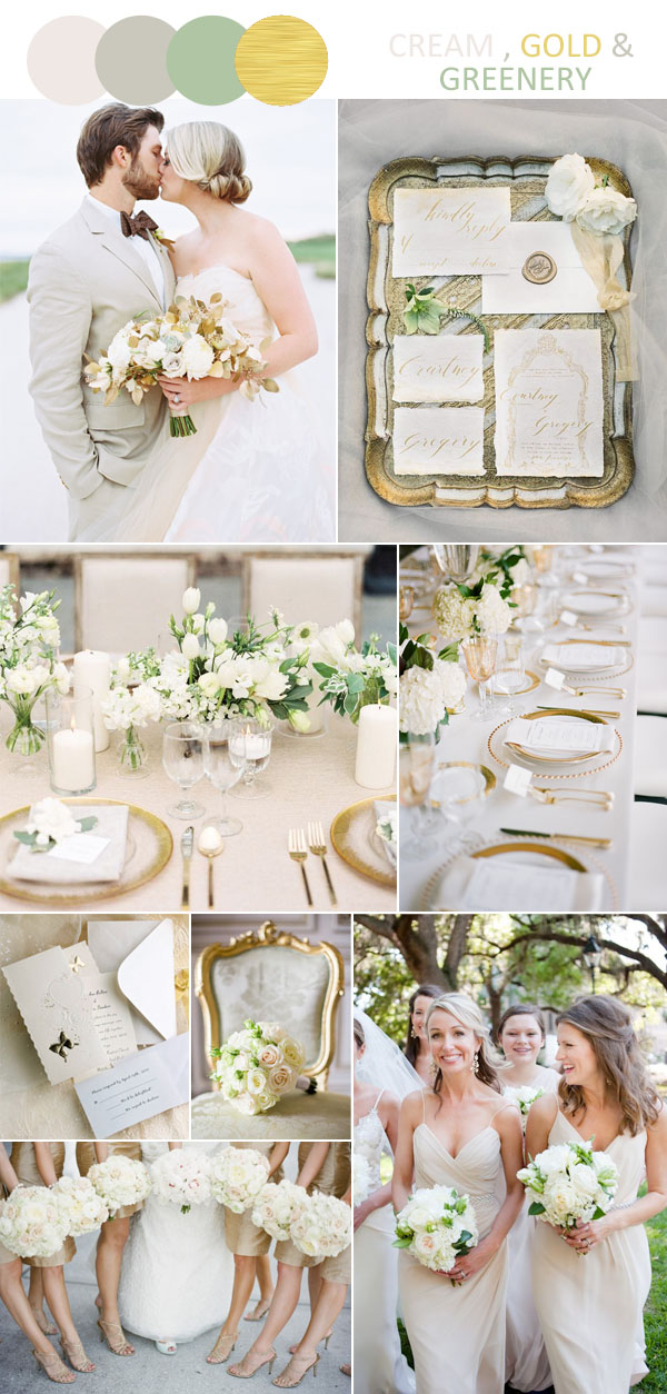 romantic cream and gold wedding colors