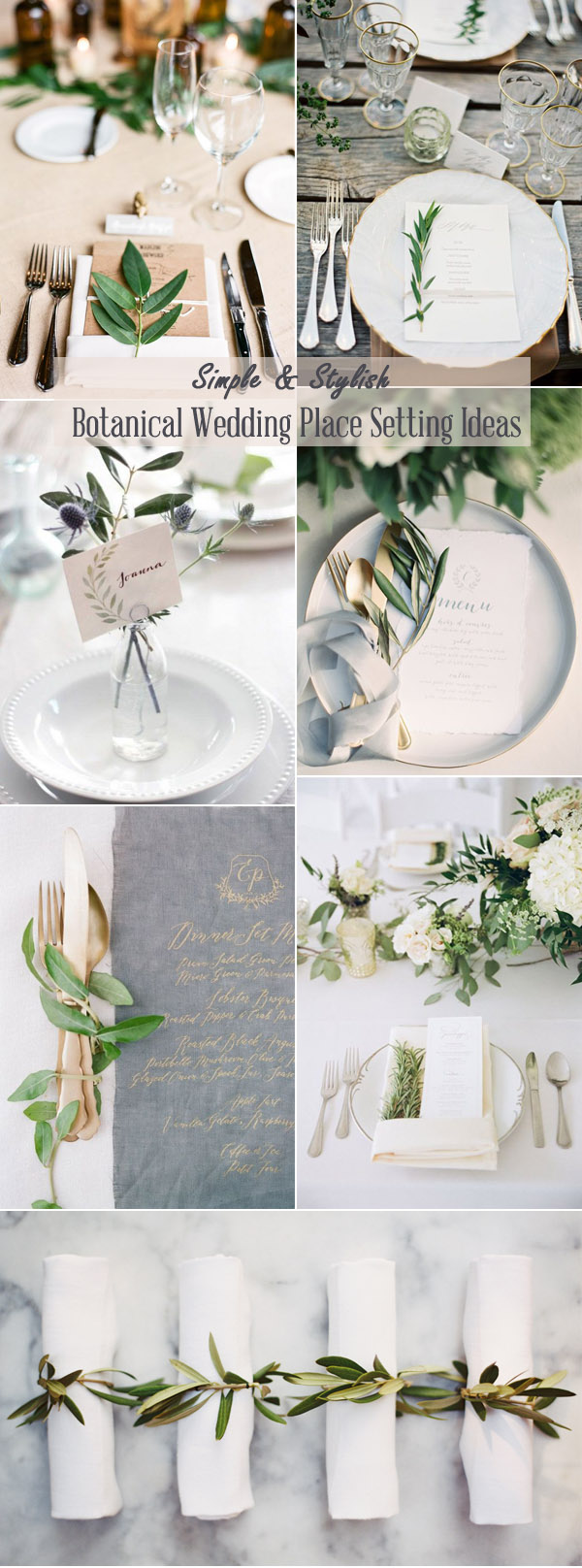 simple stylish botanical wedding place setting ideas & 2017 \u0026 2018 Trends-Easy Diy Organic Minimalist Wedding Ideas ...
