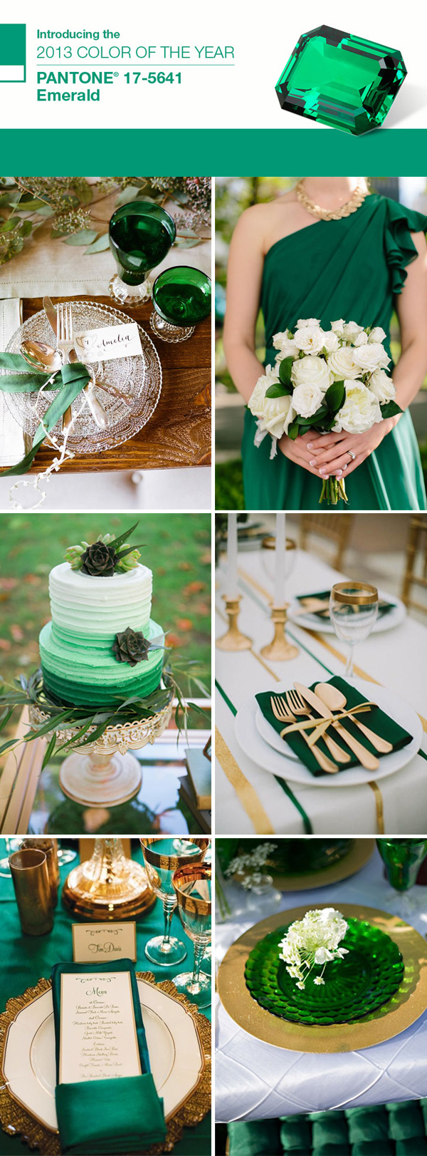 the best wedding color ideas in emerald