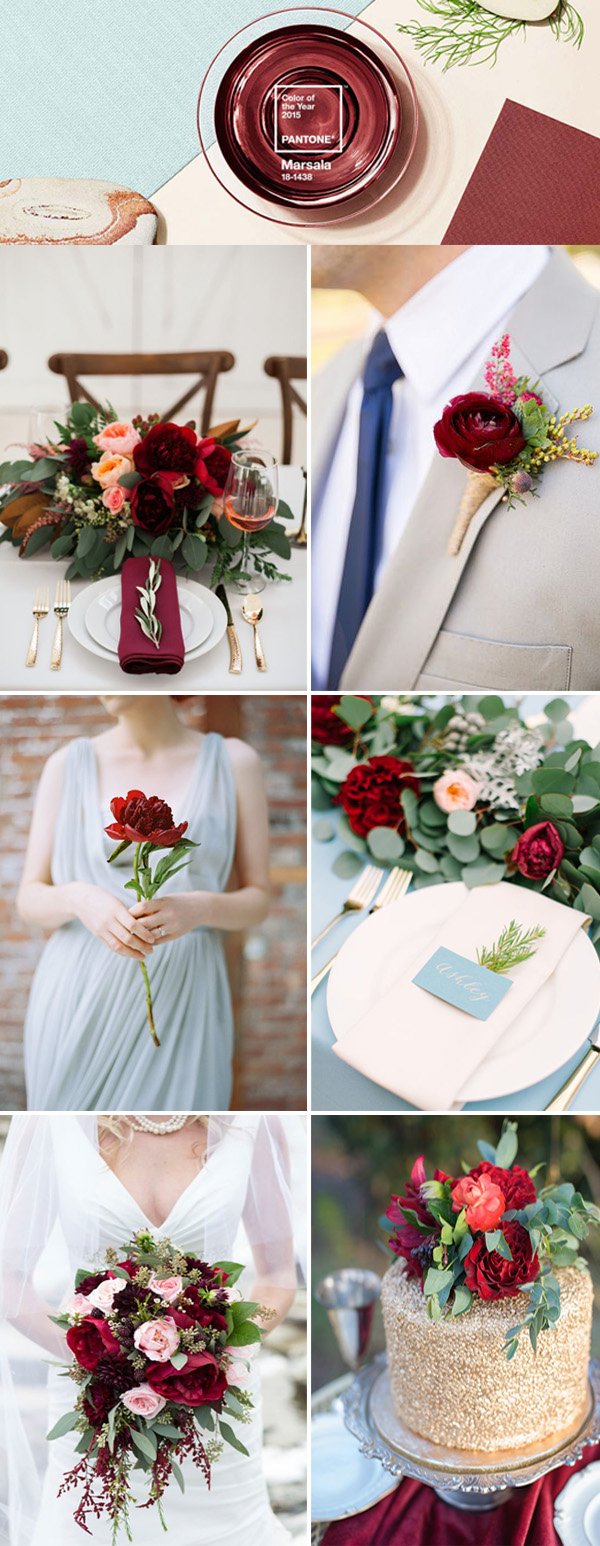the best wedding color ideas in marsala