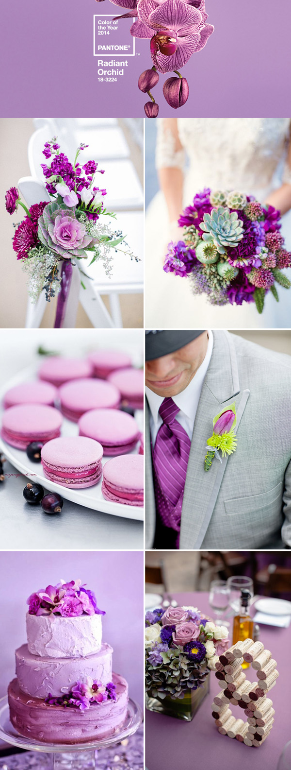the best wedding color ideas in radiant orchid