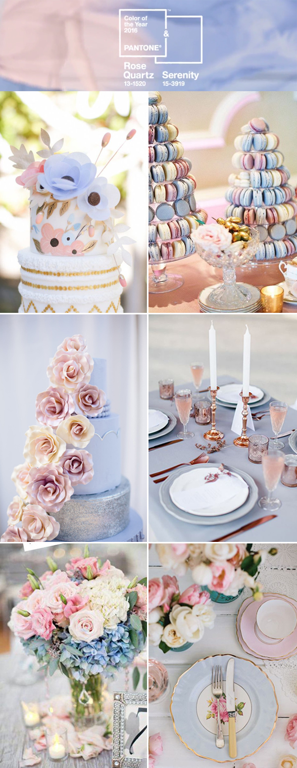 the best wedding color ideas in rose and serenity