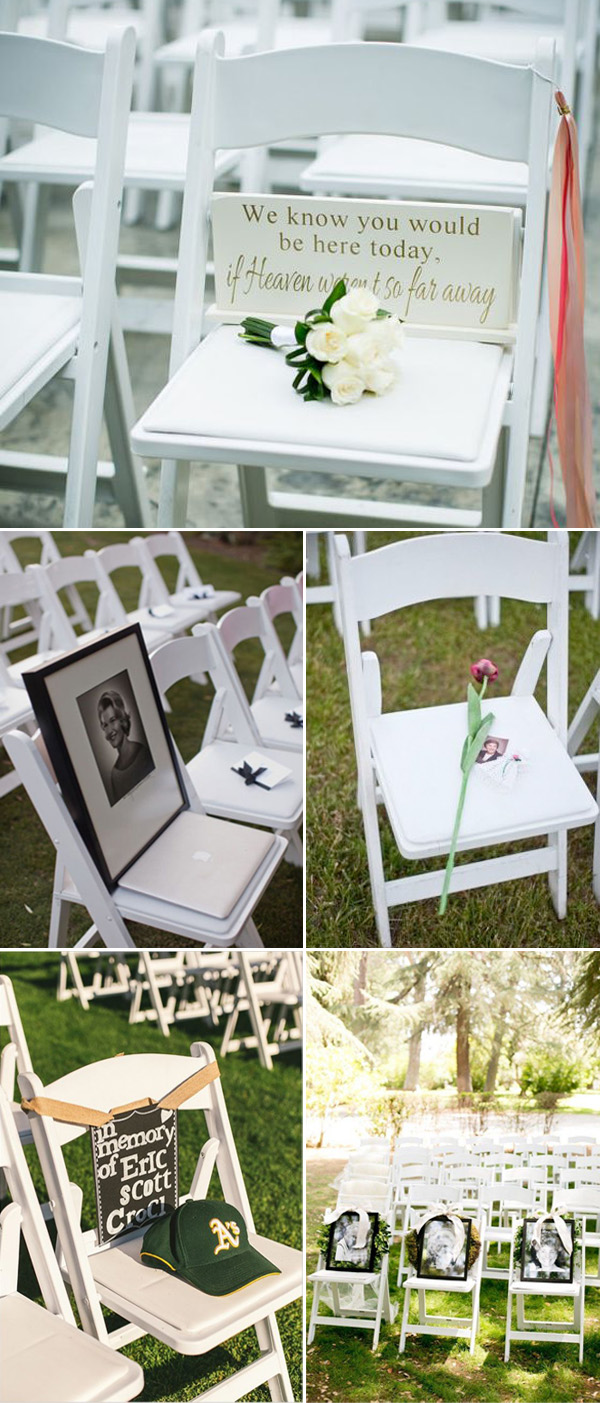 wedding chair ideas to remember deceased loved ones