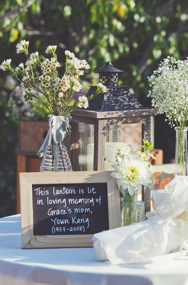 wedding latern ideas to remember deceased loved ones