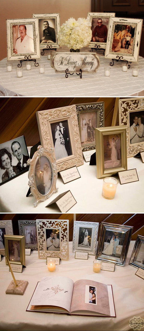 wedding photo ideas to honor those who passed away