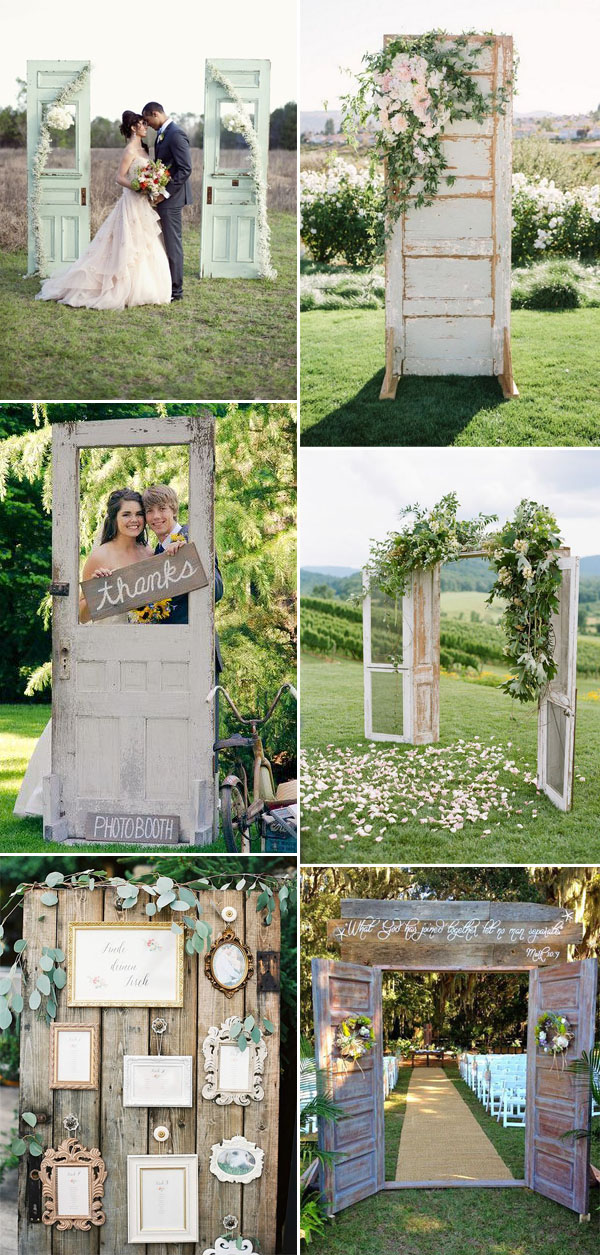 wood door rustic wedding decoration ideas