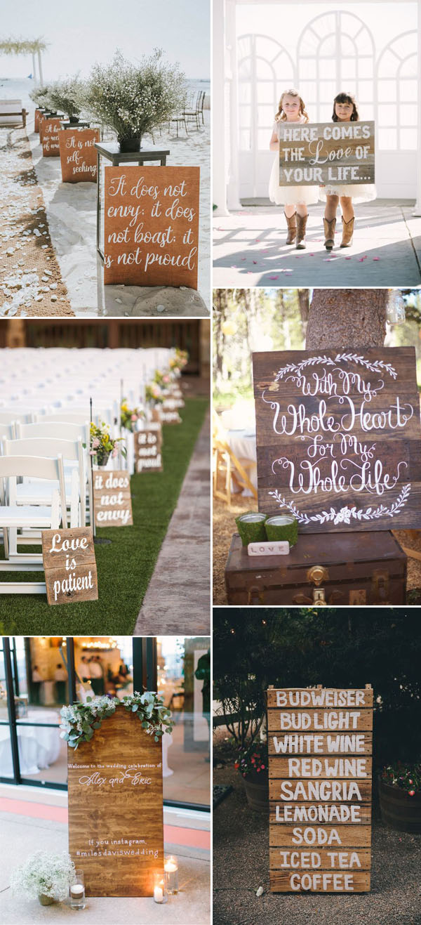wood palette decor ideas for weddings