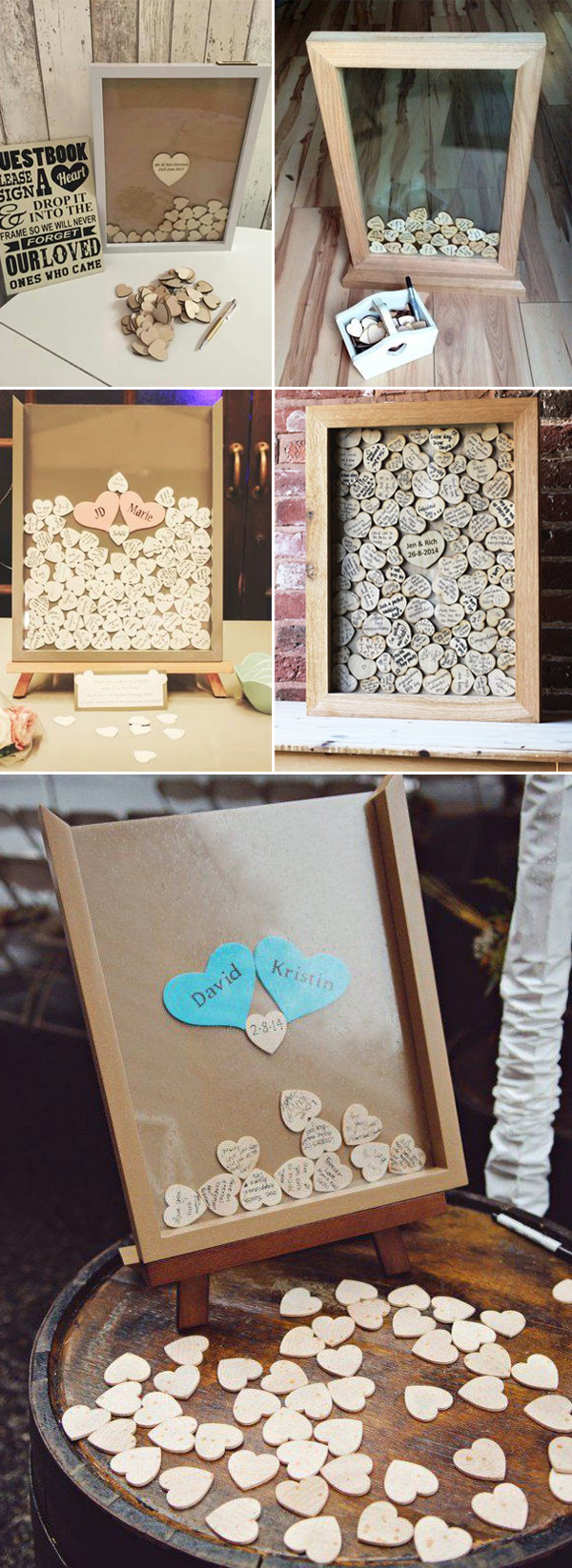 10 diy unique guest book ideas for weddings for Photo wedding guest book