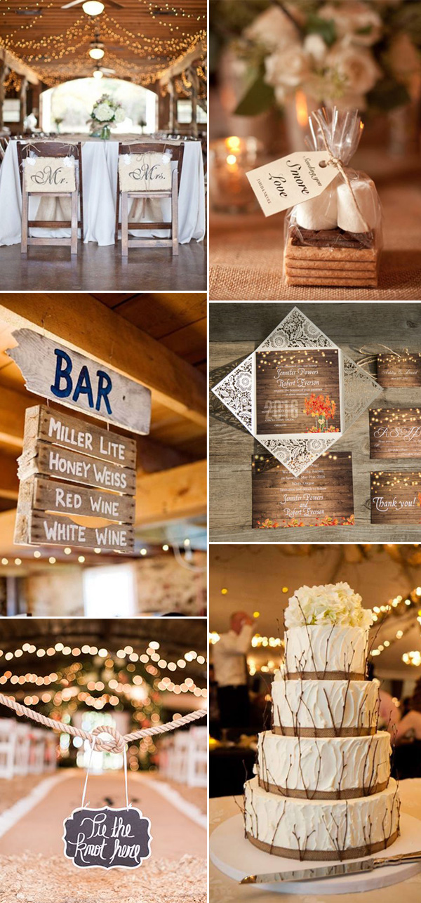 barn rustic wedding ideas with string lights