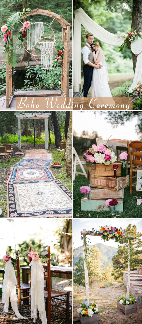 boho wedding ceremony decor ideas