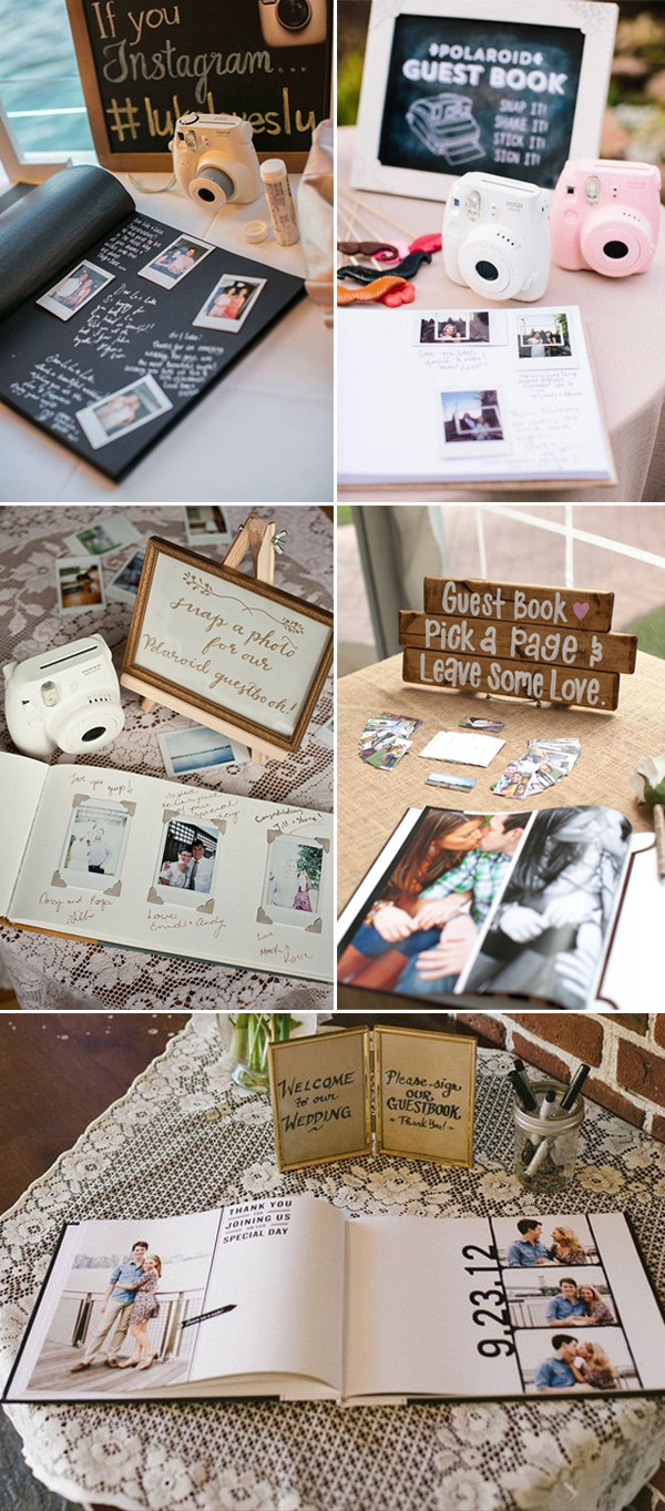 custom photo booth guest book ideas for weddings
