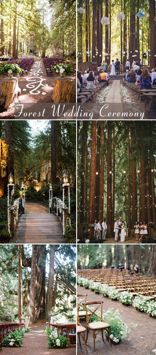 forest wedding ceremony decoration ideas