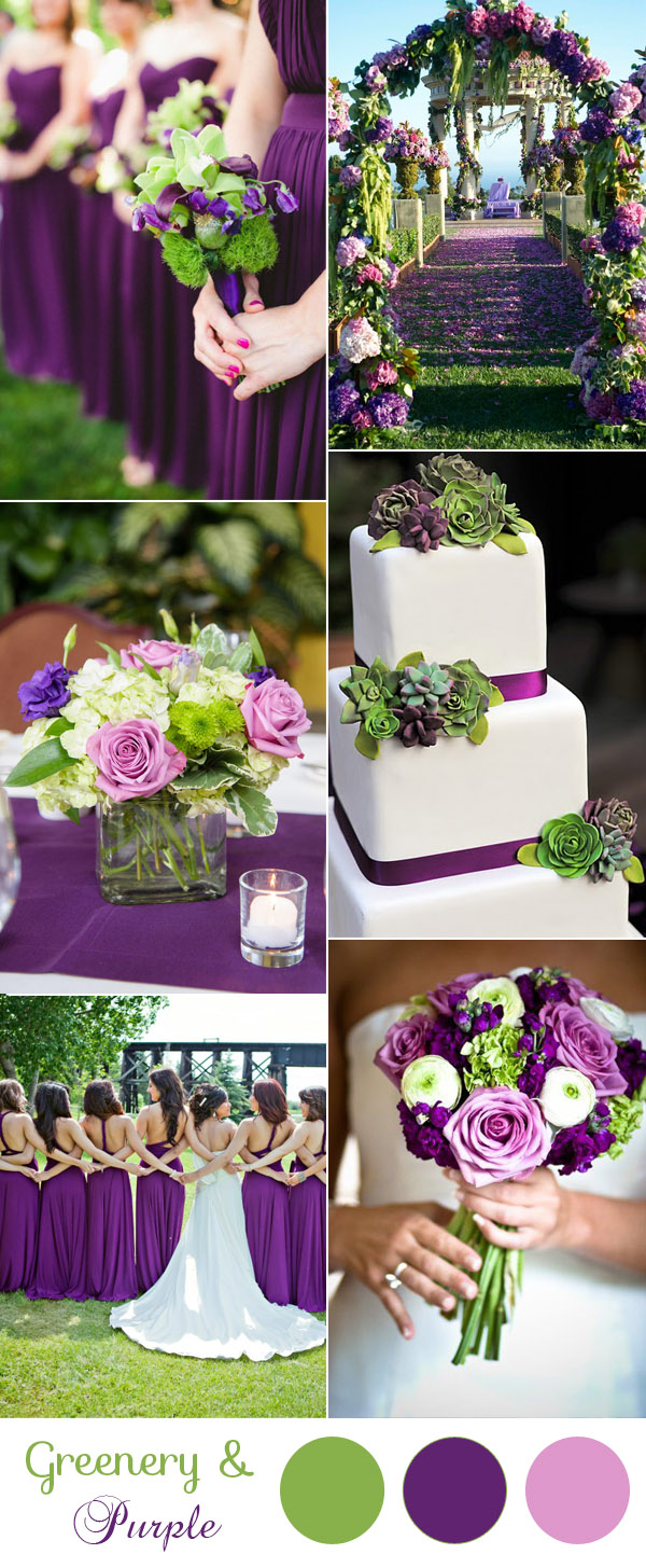 Gorgeous Purple And Green Spring Summer Wedding Colors