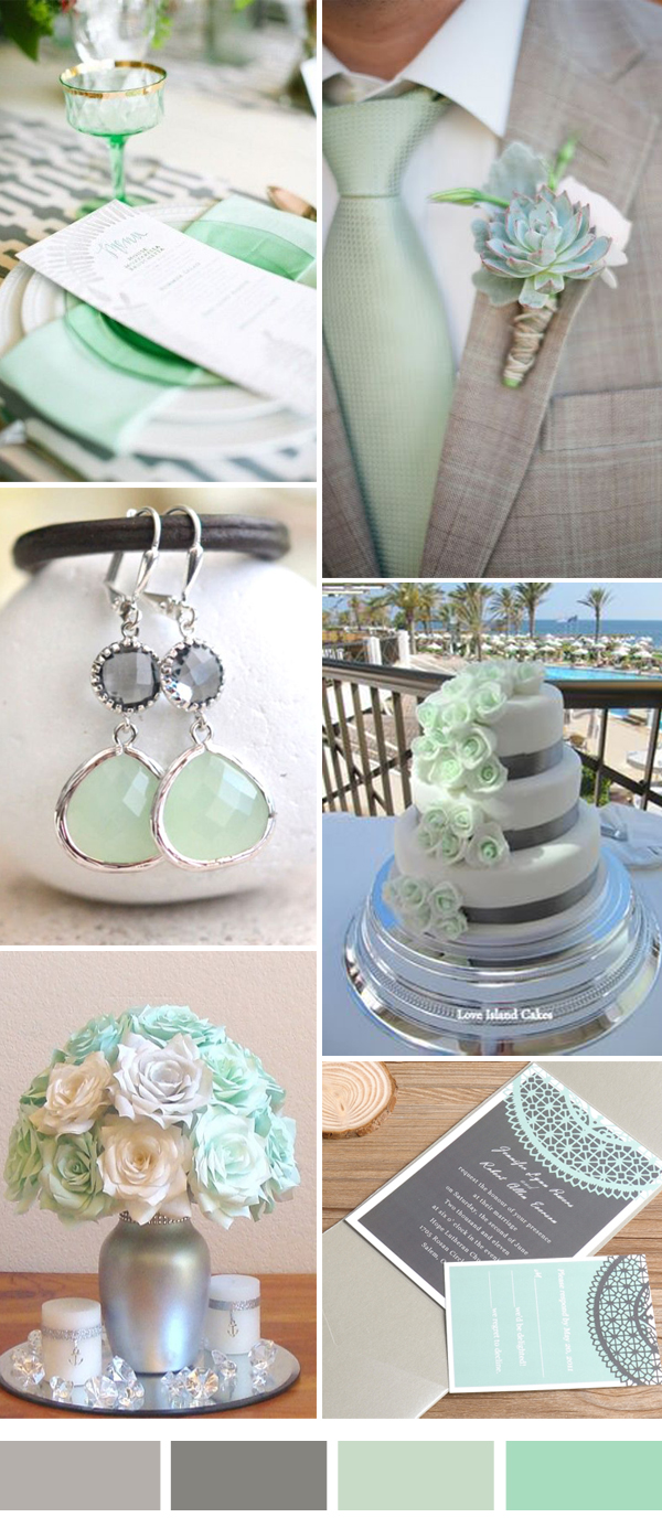 Mint And Grey Wedding Color Combos For 2017