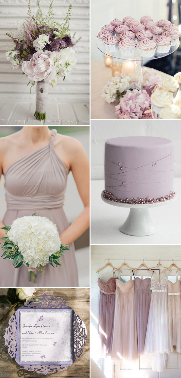 neutral lilac wedding color ideas for 2017 trends