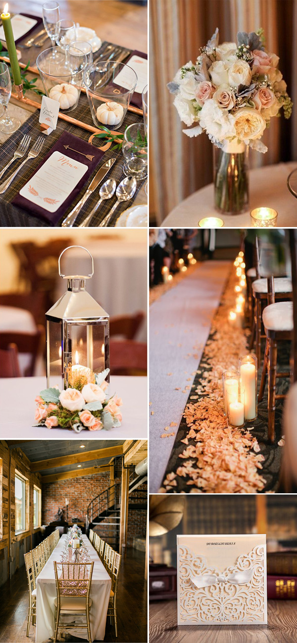 neutral metallic wedding ideas for 2017 trends