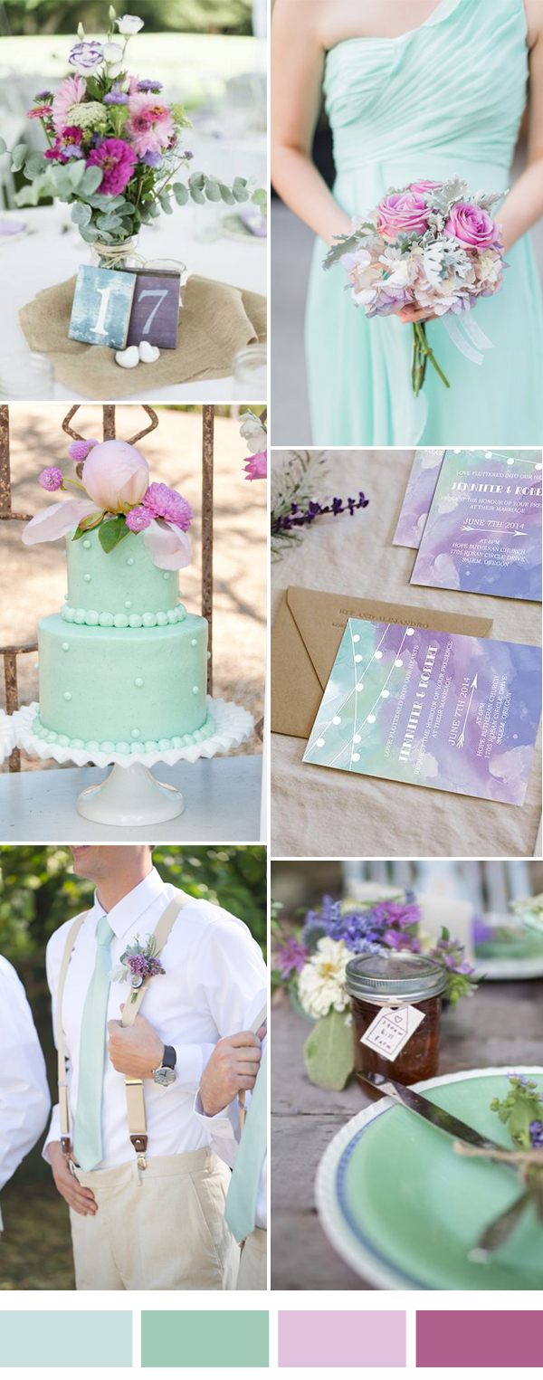 Mint Wedding Color Combination Ideas for 2017 Spring and Summer ...
