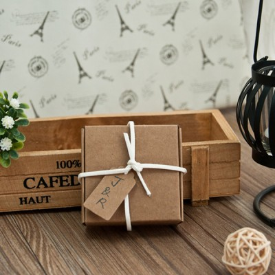 rustic simple wedding favor boxes with personalized tags