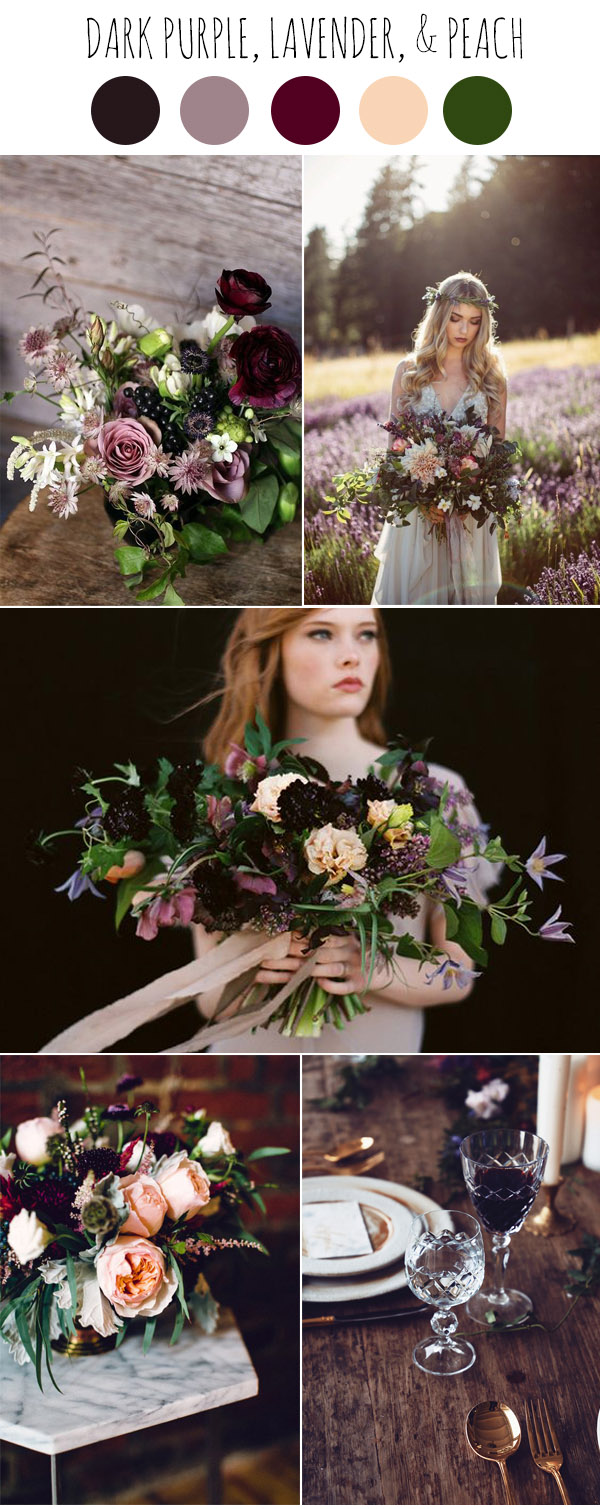 Chic Dark and Moody Fall Wedding Ideas and Colors ...