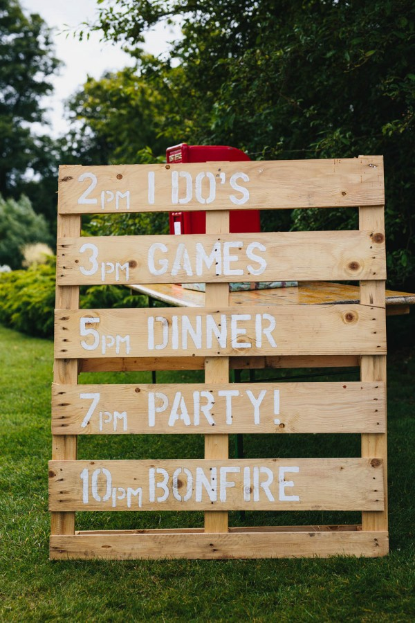 easy diy backyard wedding sign ideas