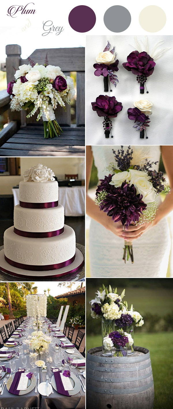get inspired by these awesome plum purple wedding color