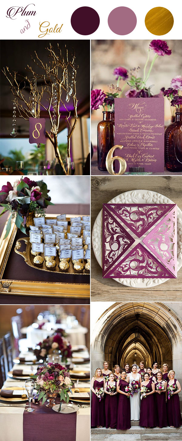 Get Inspired By These Awesome Plum Purple Wedding Color Ideas ...