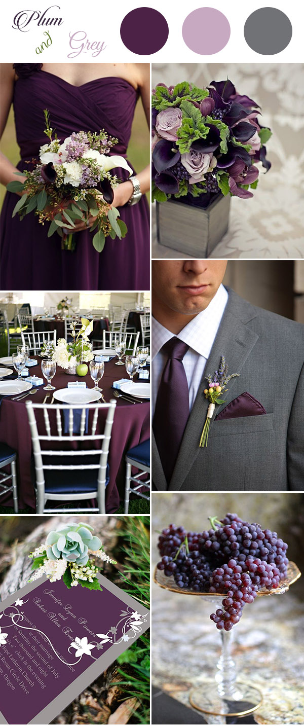 Get Inspired By These Awesome Plum Purple Wedding Color ...
