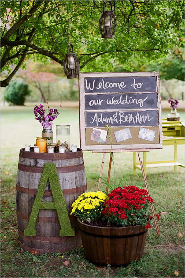 rustic backyard wedding decor ideas