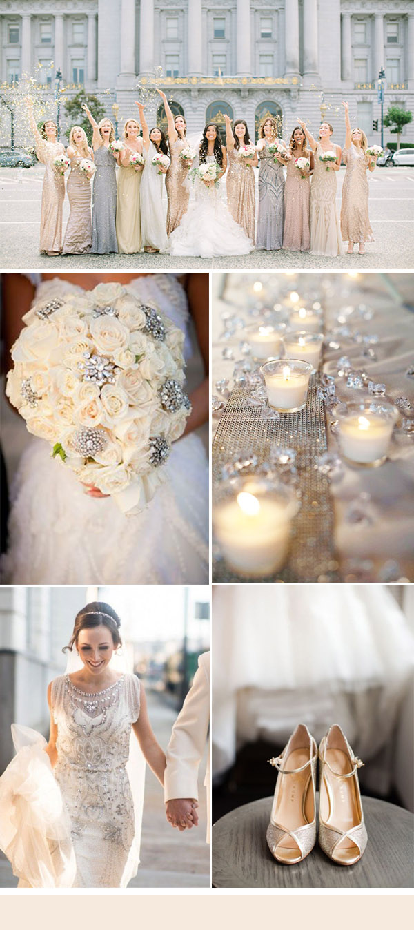 50+ Brilliant Ideas for Glamorous and Bling Weddings ...