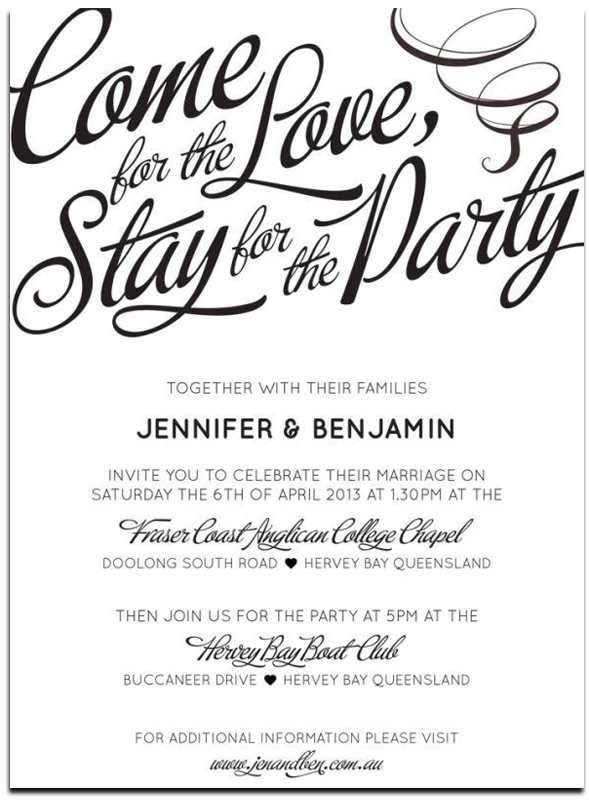 informal wedding party invitation wording ideas - Wedding Invitation Wording Together With Their Parents