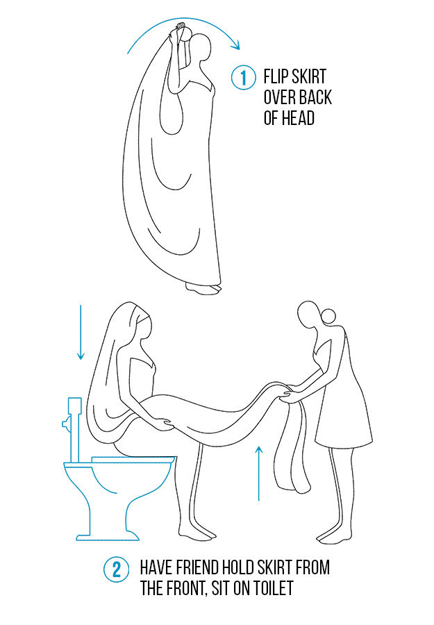 how to pee in your wedding dress