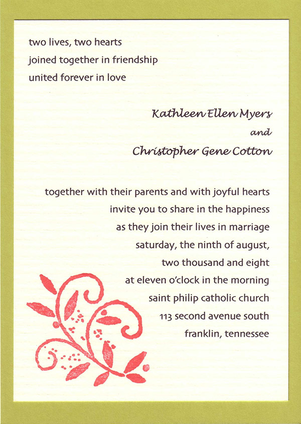 wedding invitation wording sample ideas - Wedding Invitation Wording Together With Their Parents