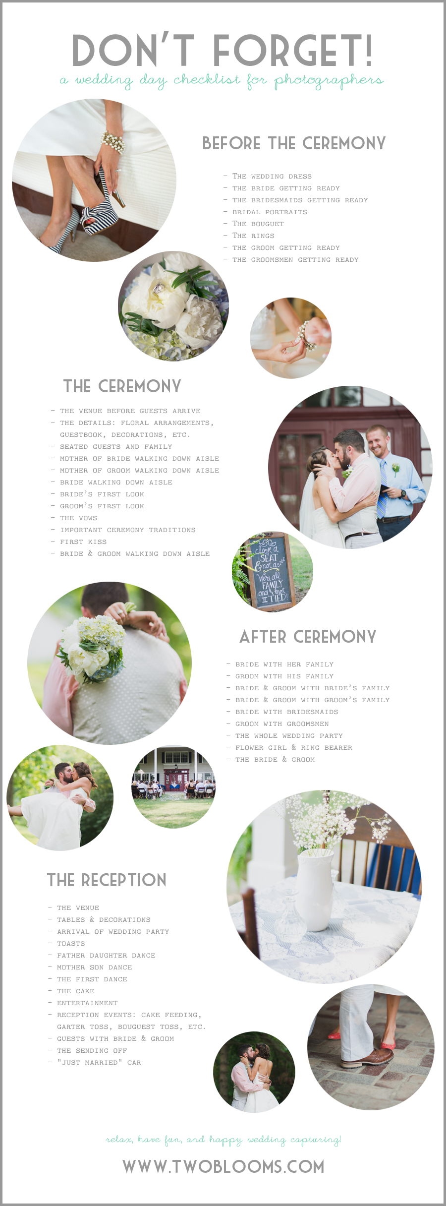 wedding photo checklist