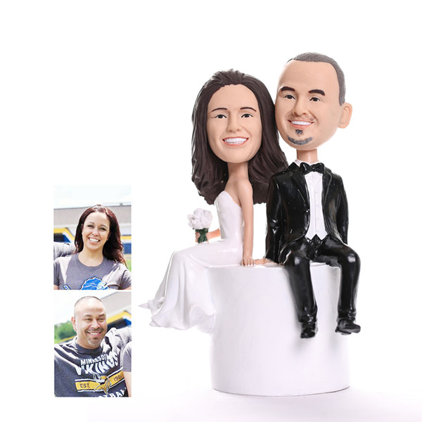 custom bride and groom wedding cake toppers