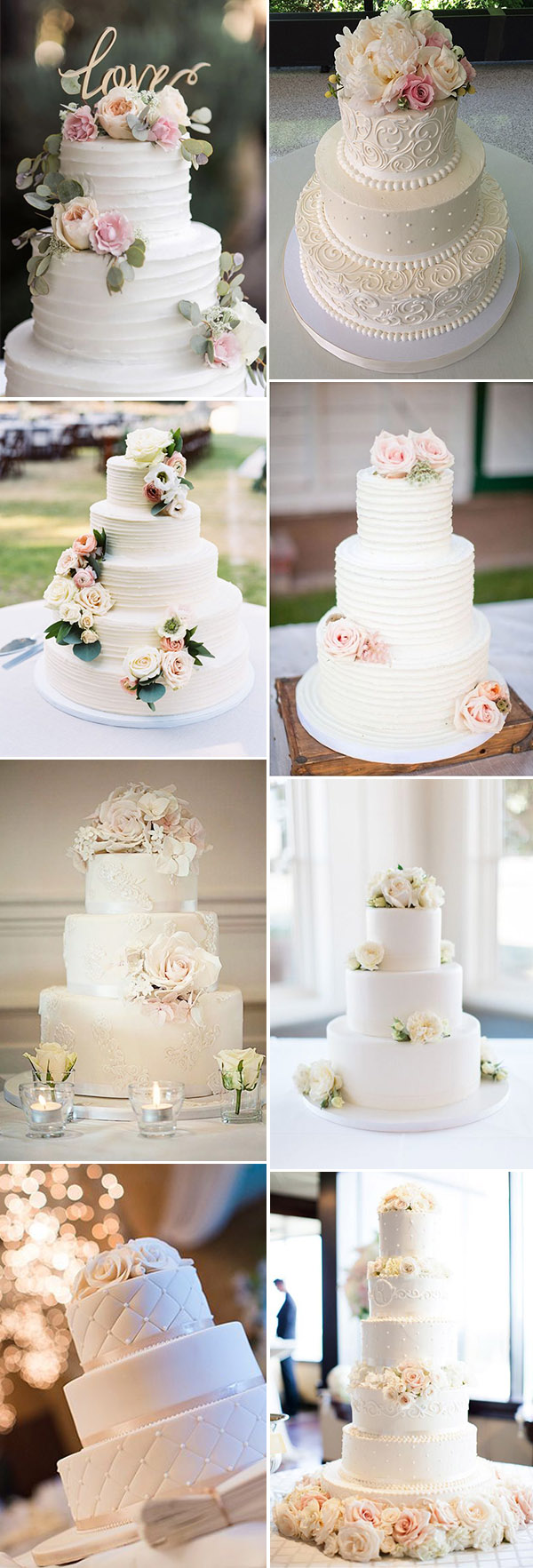 elegant and romantic wedding cake ideas