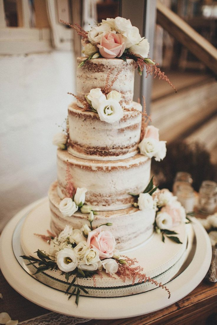 elegant rustic translucent wedding cakes